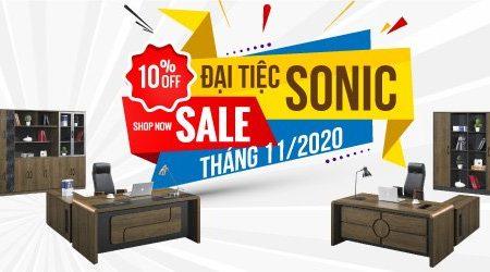 Sale sốc: giảm giá 10% tất cả bàn giám đốc Sonic từ 20.11 – 30.11